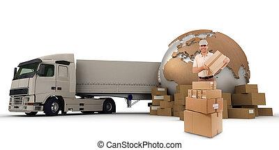 грузовой, транспорт