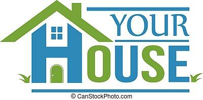 группа, дом, logo., houses