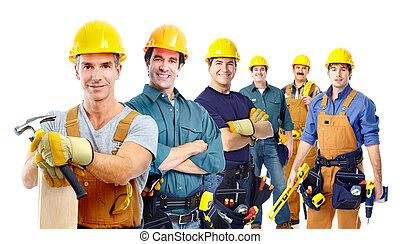 группа, промышленные, workers.