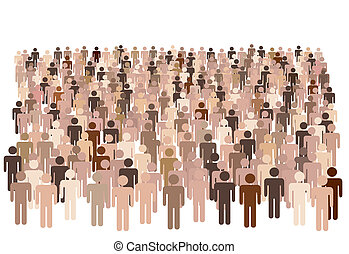 группа, форма, люди, символ, большой, разнообразный, население