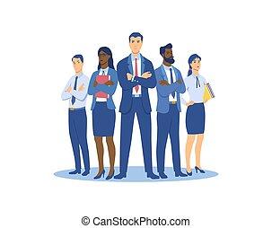 группа, suits, люди, люди, бизнес, женщины