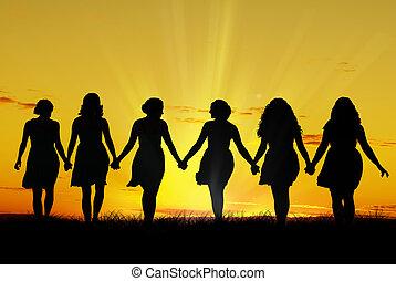 гулять пешком, женщины, рука