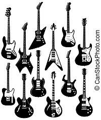 двенадцать, электрический, guitars
