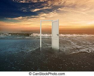 дверной проем, открытый