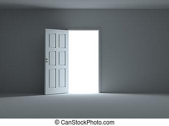 дверь, комната, легкий, темно, streaming, открытый