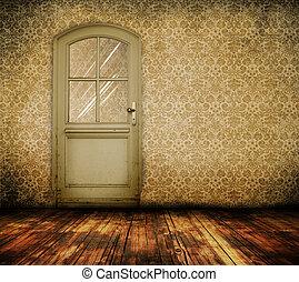 дверь, комната, старый