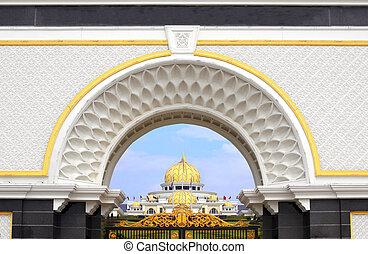 дворец, королевский, kuala, малайзия, negara, lumpur, istana