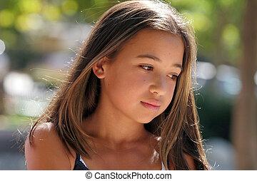 девушка, азиатский