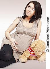 девушка, беременная