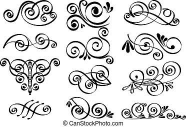 декоративный, вектор, дизайн, elements