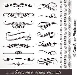 декоративный, оформление, elements, &, вектор, дизайн, страница