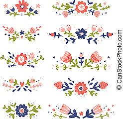 декоративный, цветочный, compositions, коллекция