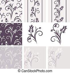 декоративный, цветочный, elements