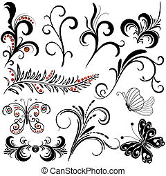 декоративный, elements, дизайн