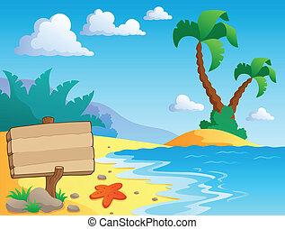 декорации, тема, 2, пляж