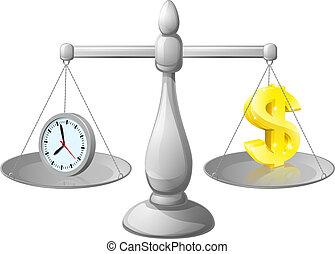 деньги, баланс, часы