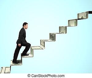 деньги, гулять пешком, лестница