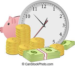 деньги, концепция, время
