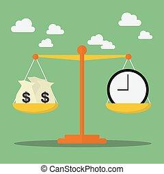 деньги, масштаб, баланс, время
