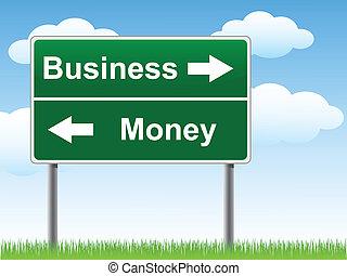 деньги, sign., бизнес, дорога