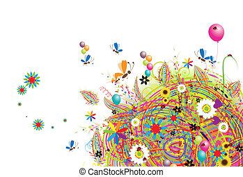 день отдыха, веселая, balloons, карта, счастливый