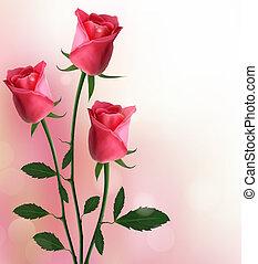 день отдыха, красный, задний план, roses
