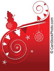 день отдыха, рождество, карта, зима