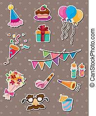 день рождения, stickers