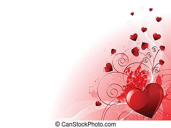 день, valentines, задний план