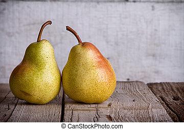 дерево, группа, pears