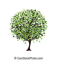 дерево, дизайн, isolated, ваш