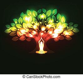 дерево, йога