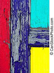 деревянный, покрасить, гранж, дверь