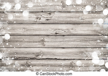 деревянный, рамка, рождество, задний план