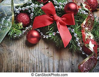 деревянный, рождество, задний план