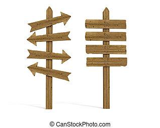 деревянный, старый, знак, после, два