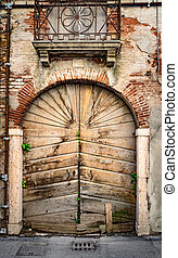 деревянный, старый, portal.