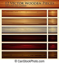 деревянный, текстура, задний план, иллюстрация, бесшовный