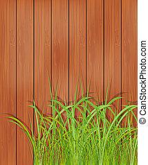 деревянный, трава, зеленый, забор