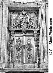 деревянный, carved, portal.
