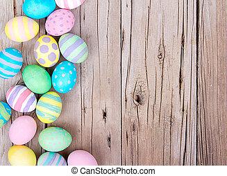 деревянный, eggs, пасха, задний план