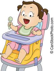 детка, девушка, ракета-носитель, сиденье