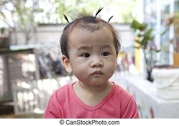 детка, лицо, азиатский