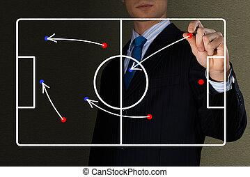 диаграмма, игра, футбол