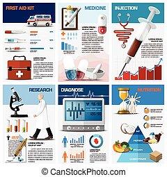 диаграмма, медицинская, infographic, здоровье, диаграмма