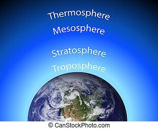 диаграмма, earth's, атмосфера