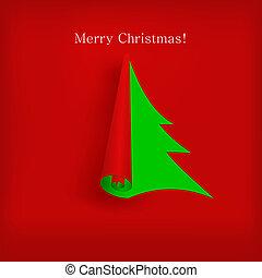 дизайн, вектор, дерево, ваш, рождество