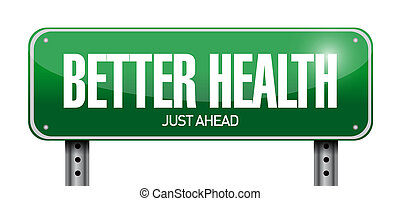 дизайн, иллюстрация, дорога, лучше, здоровье, знак