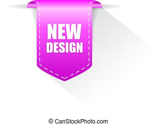 дизайн, новый, вектор, лента