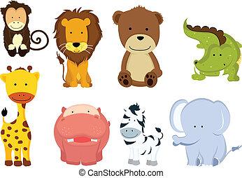 дикий, cartoons, животное